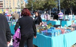 Alguns comerciants al Ripostock // Sergi Bayó